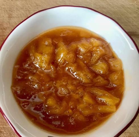 vegan recipe blog pineaple chutney
