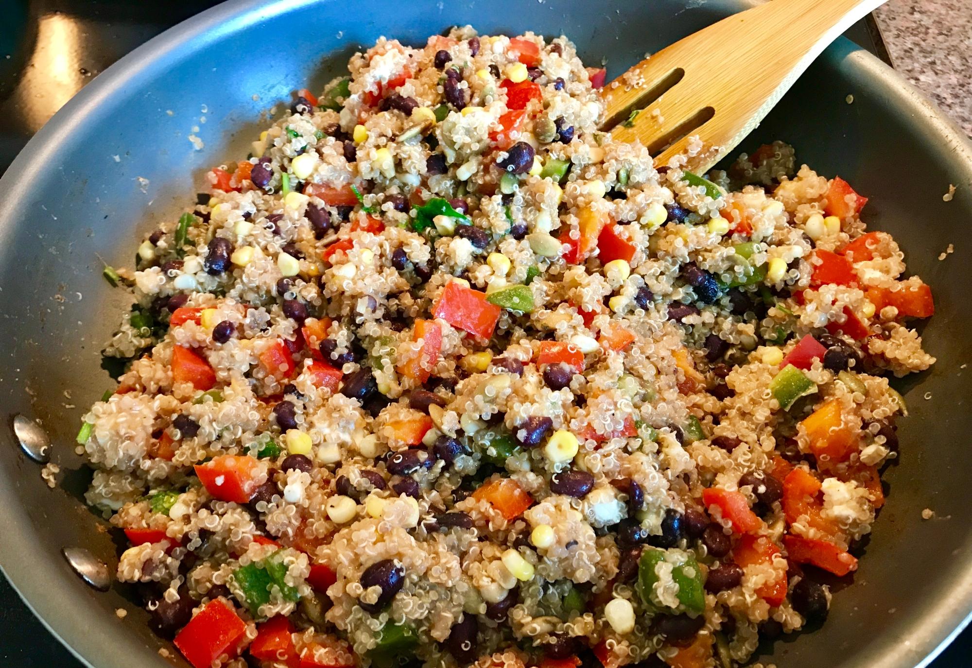 Vegan Black Bean Quinoa Bowl Recipe