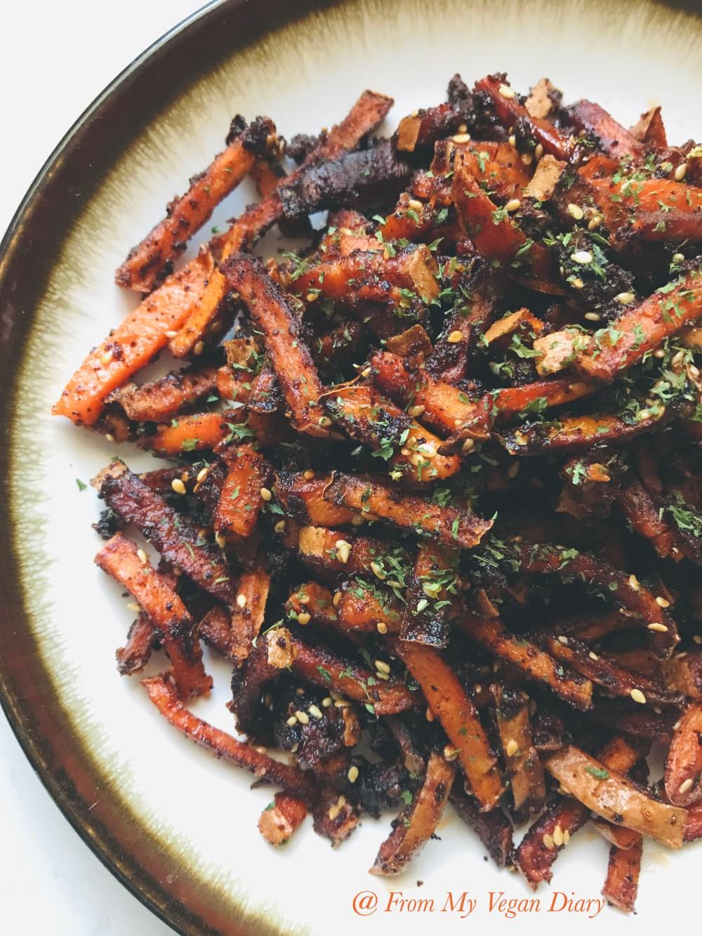 Crispy Sweet and Spicy Sweet Potato Fries
