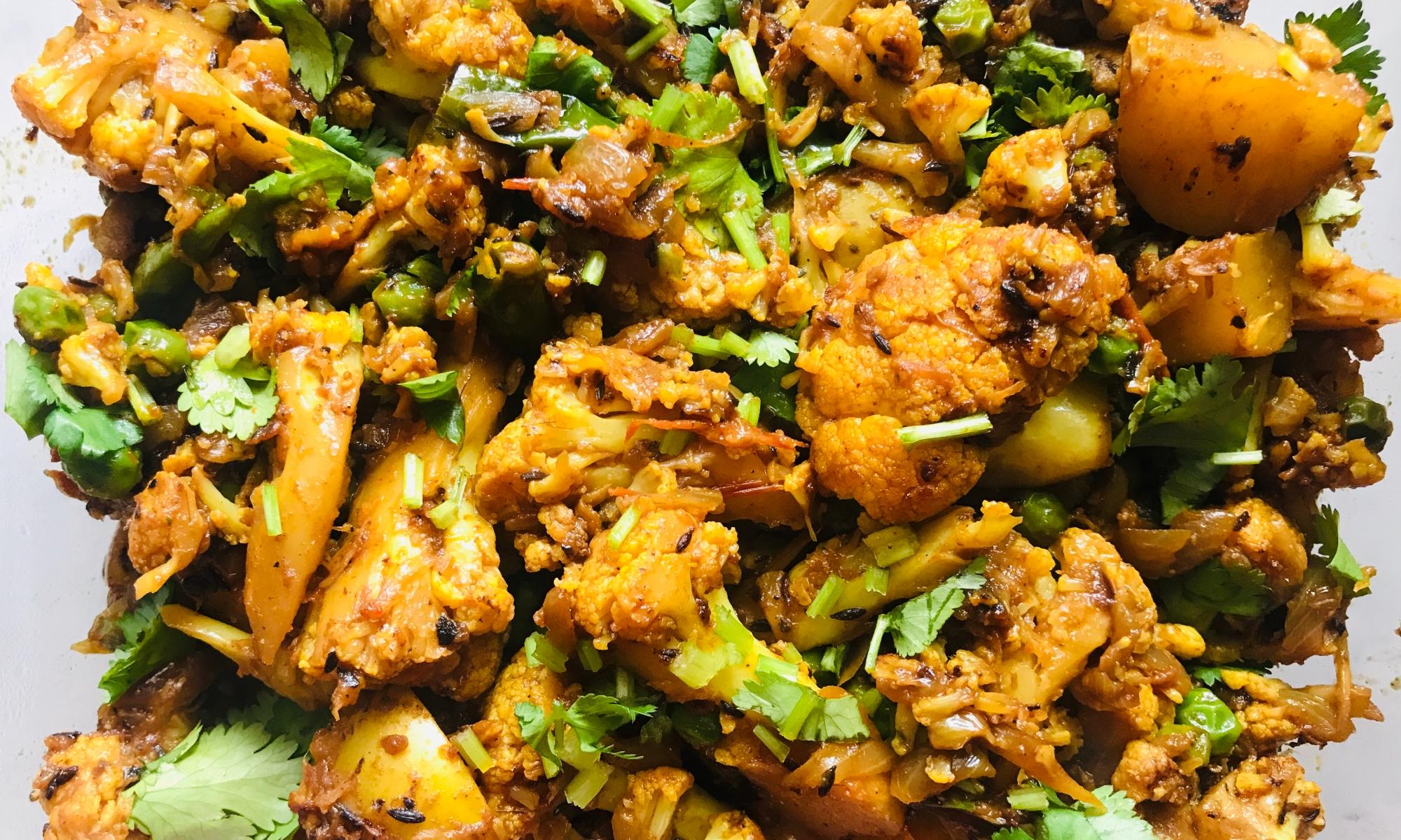 Easy Indian Style Cauliflower and Potato recipe