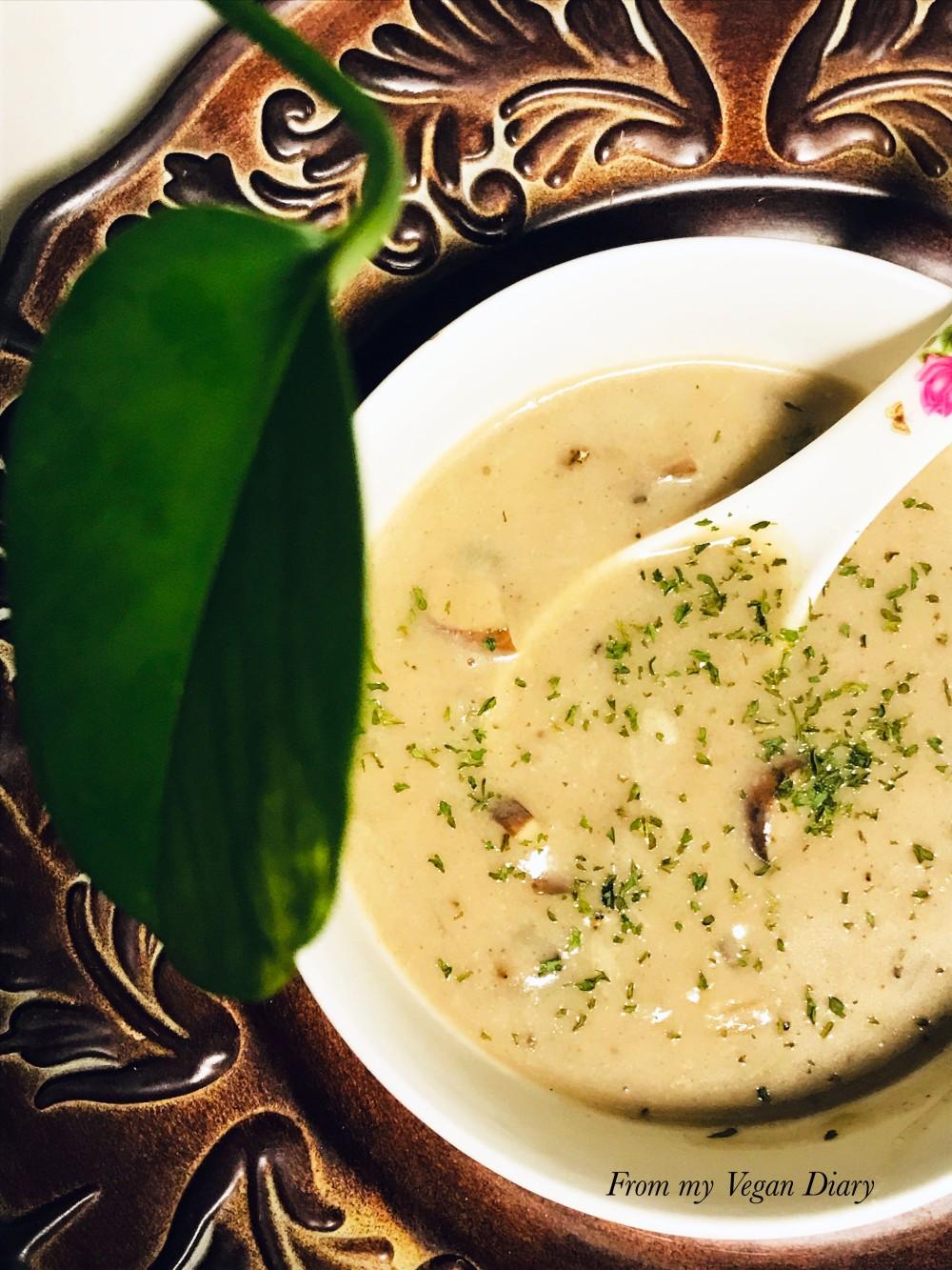 vegan cream of mushroom soup recipe blog