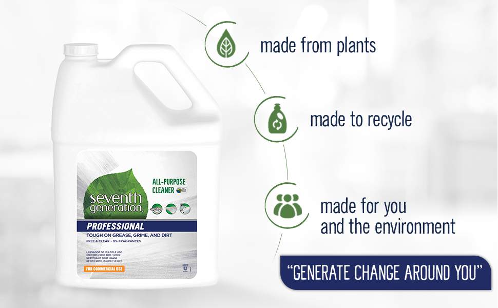 non-toxic plant based Sevent Generation all-purpose cleaner
