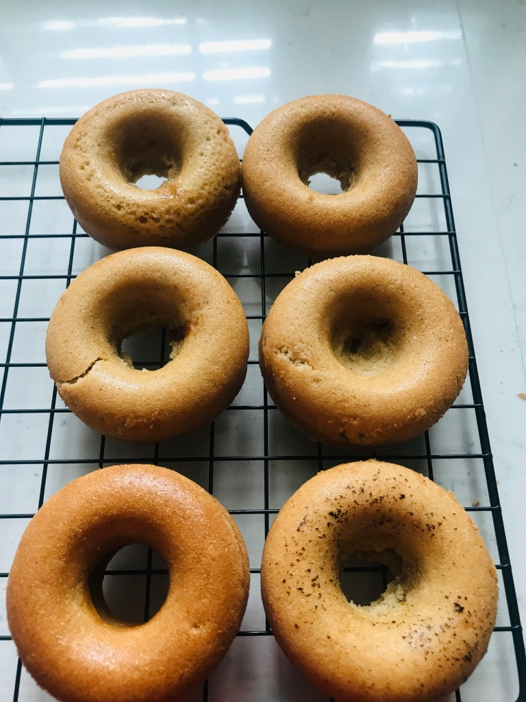 Vegan Baked Donuts fresh out of the oven